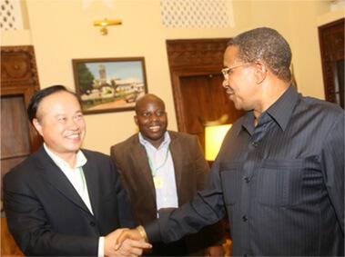 президет Танзании встретился с Синьхайским председателем