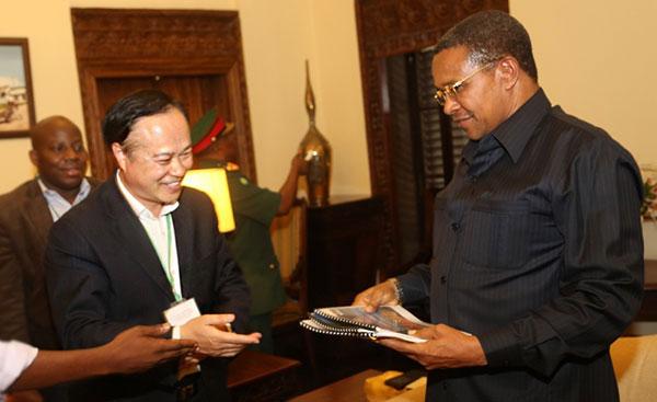 鑫海董事长与坦桑尼亚总统