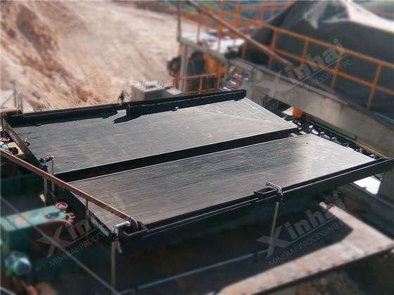 Обогащение руды на концентрационных столах